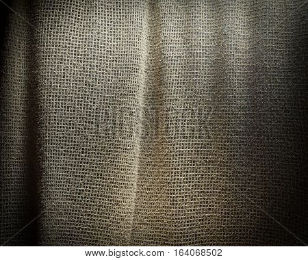 Grey sackcloth texture background. Soft fabric textile material.