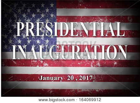 Presidential Inauguration day in USA with flag background