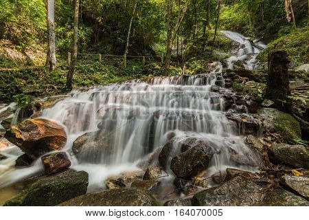 Mae Kampong Waterfalls In Chiang Mai, Thailand
