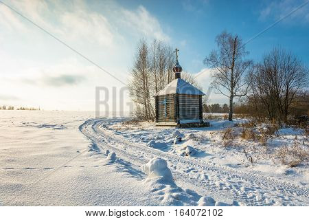 Wooden Chapel Of The Holy Source Of The Tikhvin Icon Of The Mother Of God.