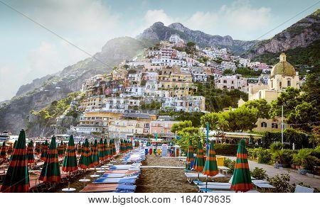 Amalfi Coast - Panorama of Positano Italy