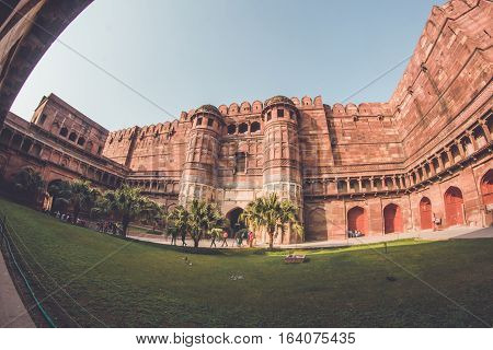 Agra Fort Agra, the king's ancient fort located in Agra, India