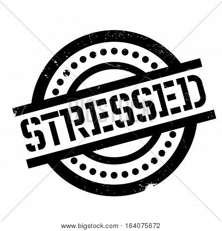 Stressed rubber stamp. Grunge design with dust scratches. Effects can be easily removed for a clean, crisp look. Color is easily changed.