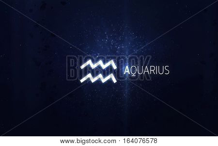 Zodiac sign - Aquarius. Elements of this image furnished by NASA
