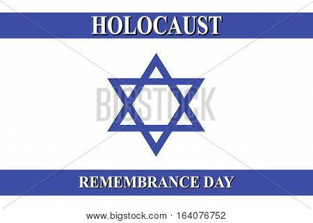 international Holocaust Remembrance Day with Israel flag