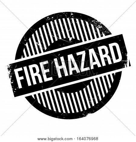 Fire Hazard rubber stamp. Grunge design with dust scratches. Effects can be easily removed for a clean, crisp look. Color is easily changed.