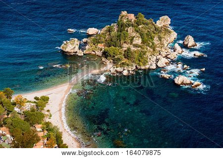 Isola Bella as seen from Taormina Sicily