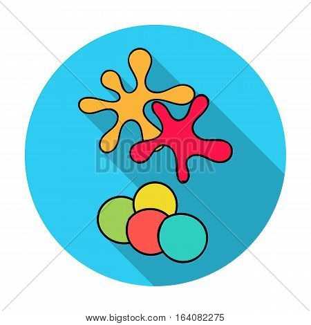 Balls for paintball icon in flat design isolated on white background. Paintball symbol stock vector illustration.