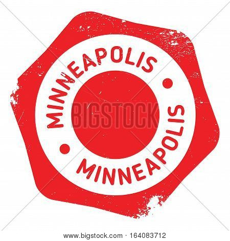 Minneapolis stamp. Grunge design with dust scratches. Effects can be easily removed for a clean, crisp look. Color is easily changed.