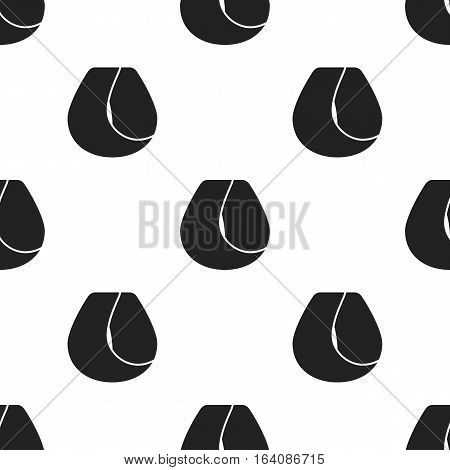 Hair lock icon in black style isolated on white background. Hairdressery pattern vector illustration.