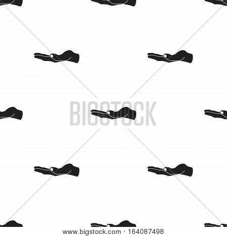 Ask for alms icon in black style isolated on white background. Hand gestures pattern vector illustration.
