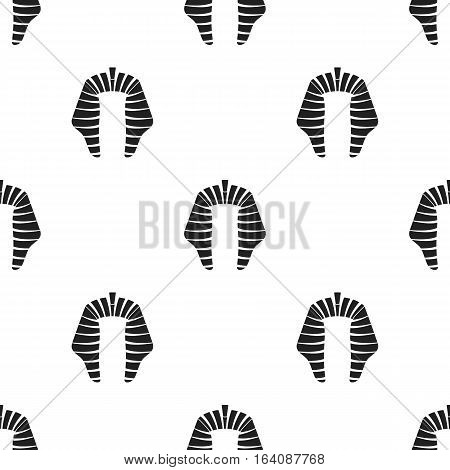 Nemesi con in black style isolated on white background. Hats pattern vector illustration.