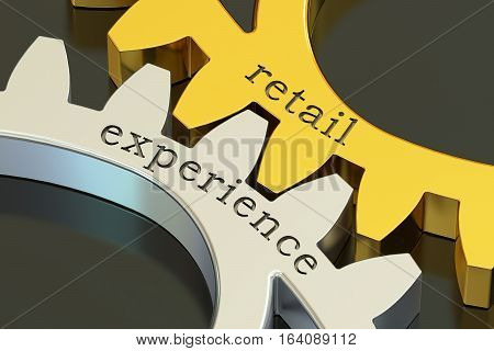 retail experience concept on the gearwheels 3D rendering