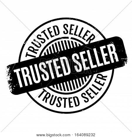 Trusted Seller rubber stamp. Grunge design with dust scratches. Effects can be easily removed for a clean, crisp look. Color is easily changed.