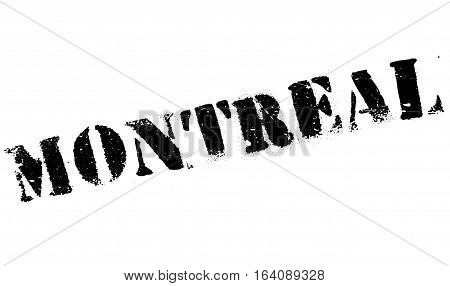 Montreal stamp. Grunge design with dust scratches. Effects can be easily removed for a clean, crisp look. Color is easily changed.