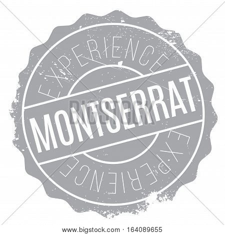 Montserrat stamp. Grunge design with dust scratches. Effects can be easily removed for a clean, crisp look. Color is easily changed.