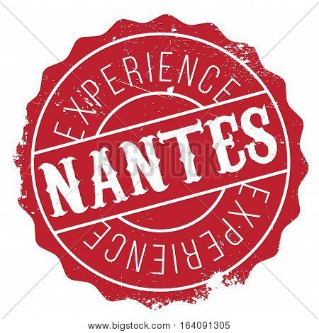 Nantes stamp. Grunge design with dust scratches. Effects can be easily removed for a clean, crisp look. Color is easily changed.