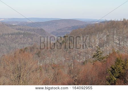 A view of the Endless Mountains from Worlds end state park in Pennsylvania.