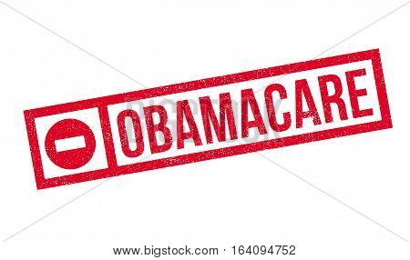Obamacare rubber stamp. Grunge design with dust scratches. Effects can be easily removed for a clean, crisp look. Color is easily changed.