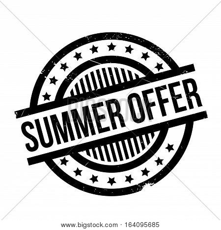 Summer Offer rubber stamp. Grunge design with dust scratches. Effects can be easily removed for a clean, crisp look. Color is easily changed.