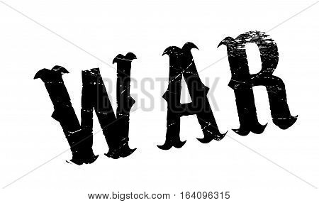 War rubber stamp. Grunge design with dust scratches. Effects can be easily removed for a clean, crisp look. Color is easily changed.