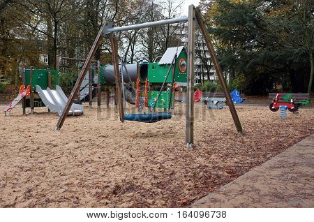 Children Playground in the park in a city
