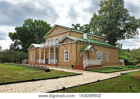 TARKHANI RUSSIA - AUGUST 28 2016: Manor house in the State Lermontov Museum-Reserve Tarkhany