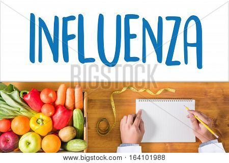 Influenza Headache Because Of Influenza Virus , Medical Concept , Diagnosis - Influenza Vaccination