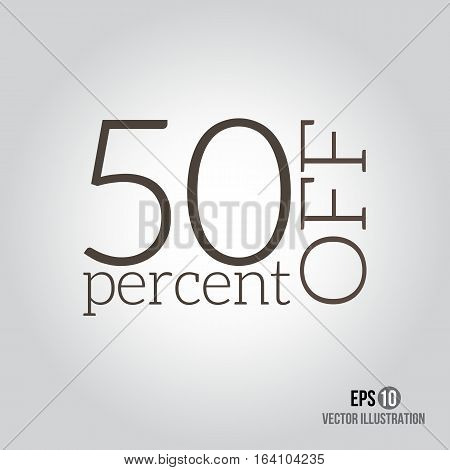 50% sale. Price off icon with 50 percent discount.