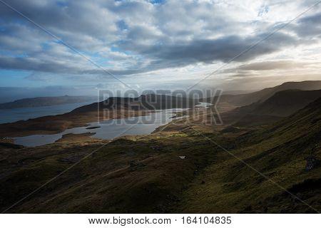 Trotternish Ridge on the Isle of Skye in the Inner Hebrides