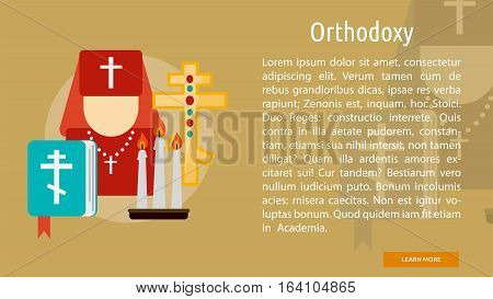 Orthodoxy Conceptual Banner | Great flat illustration concept icon and use for Religious, event, holiday, celebrate and much more.