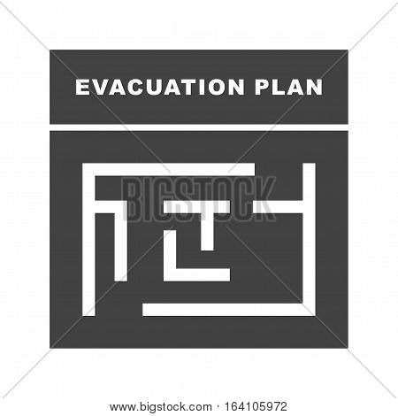 Plan, exit, evacuation icon vector image. Can also be used for meseum. Suitable for web apps, mobile apps and print media.