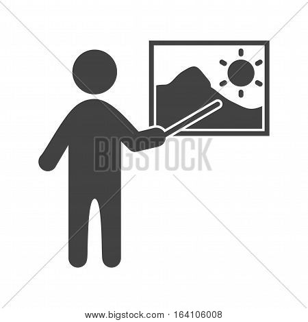 Museum, guide, art icon vector image. Can also be used for meseum. Suitable for web apps, mobile apps and print media.