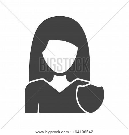 Police, security, guard icon vector image. Can also be used for women. Suitable for mobile apps, web apps and print media.
