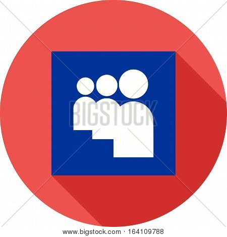 MySpace, social, online icon vector image. Can also be used for social media logos. Suitable for mobile apps, web apps and print media.