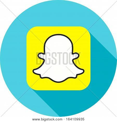Snapchat, application, chat icon vector image. Can also be used for social media logos. Suitable for mobile apps, web apps and print media.