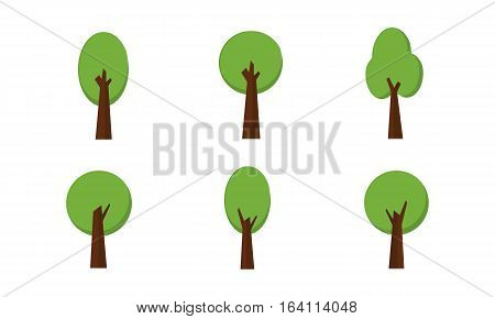 Vector Set of Trees collection stock illustration