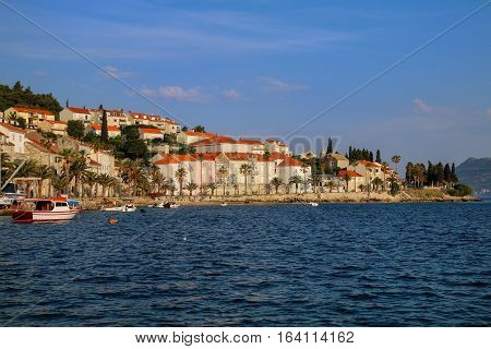 Waterfront Of Korcula Town, Croatia