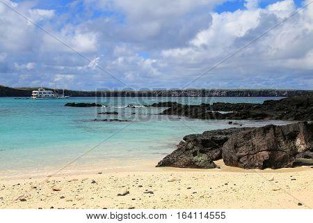 Sandy Beach Of Great Darwin Bay, Genovesa Island, Galapagos National Park, Ecuador
