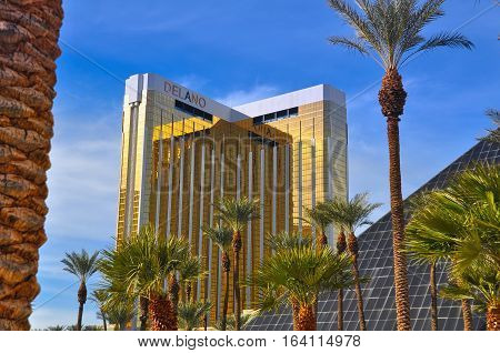 VEGAS NEVADA USA - January 11th 2016: Delano hotel and casino