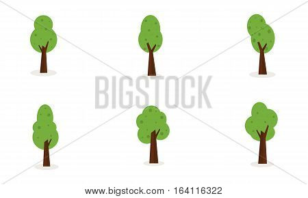 Illustration of tree set object collection stock