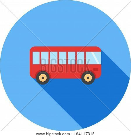 Bus, travel, coach icon vector image. Can also be used for vehicles. Suitable for use on web apps, mobile apps and print media.