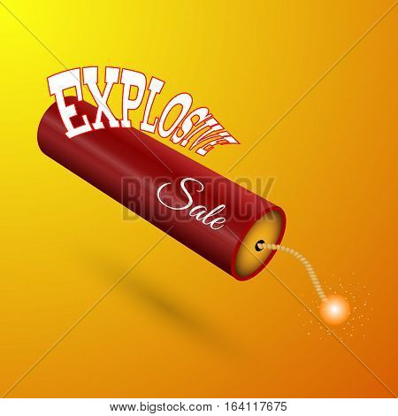 Bomb About To Blast With Black Friday Sales Tag Vector Illustration Eps 10