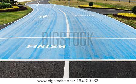 Running Race Track Finish Point