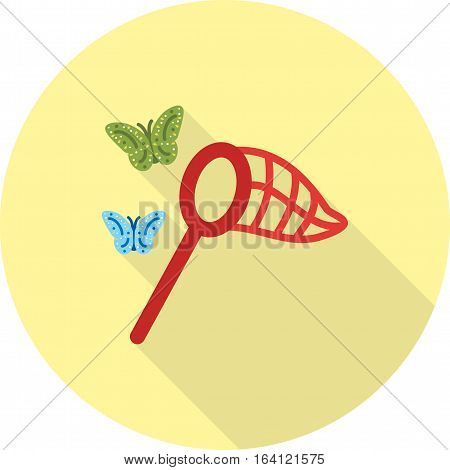 Net, butterfly, catching icon vector image. Can also be used for spring. Suitable for web apps, mobile apps and print media.