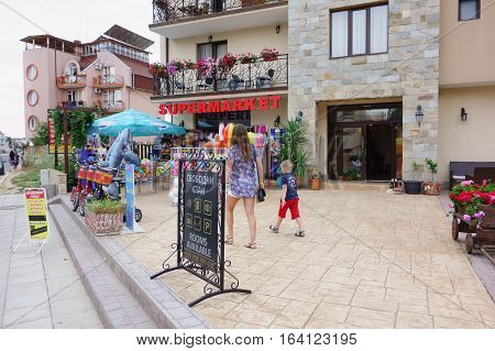 Architecture And People Of New Nessebar