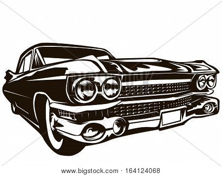 Car Muscle Retro Poster Isolated