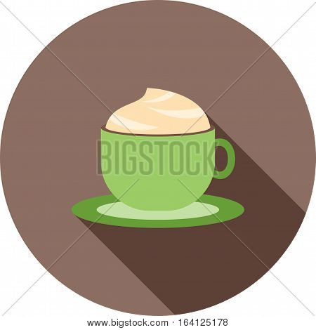 Coffee, mocha, cup icon vector image. Can also be used for coffee shop. Suitable for web apps, mobile apps and print media.