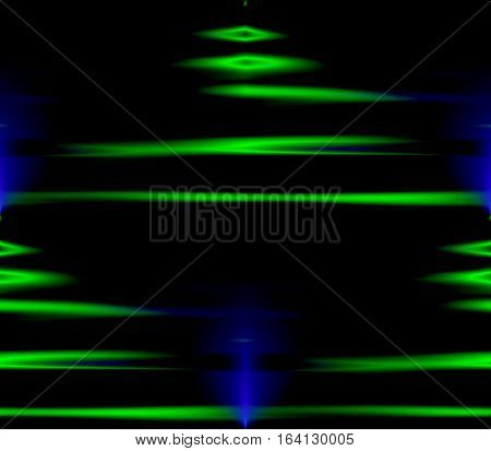 Abstract seamless background in bright electric lines, spots, holes and points of blue and black and green fantasy