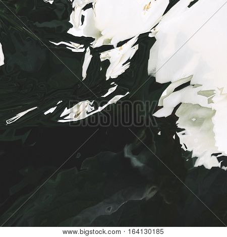 Background of glitch manipulations. Abstract shapes of white and dark green colors. It can be used for web design and visualization of music